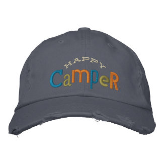 Happy Camper Embroidery Hat Embroidered Baseball Caps