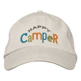 Happy Camper Embroidery Hat Embroidered Baseball Cap
