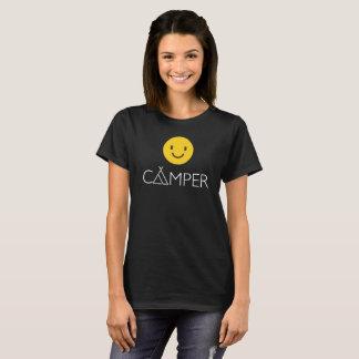 Happy Camper Emoji Emoticon Funny Graphic Tee
