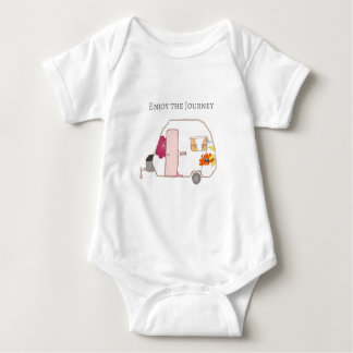 Happy Camper - Enjoy the Journey Baby Bodysuit
