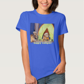 Happy Camper Golden Retrievers Camping T-shirts