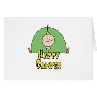 Happy Camper Guy Greeting Card