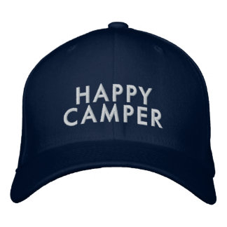 Happy Camper Hat Embroidered Cap