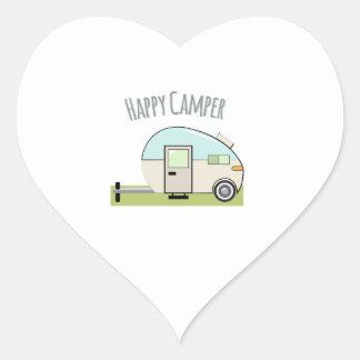 Happy Camper Heart Sticker