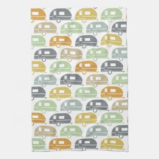 Happy Camper   Modern Camper Decor Earth Tones Tea Towel