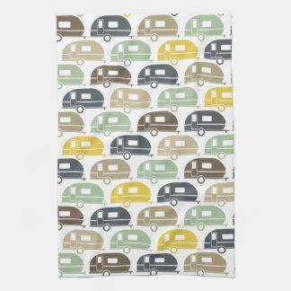 Happy Camper   Modern Camper Decor Retro Tea Towel