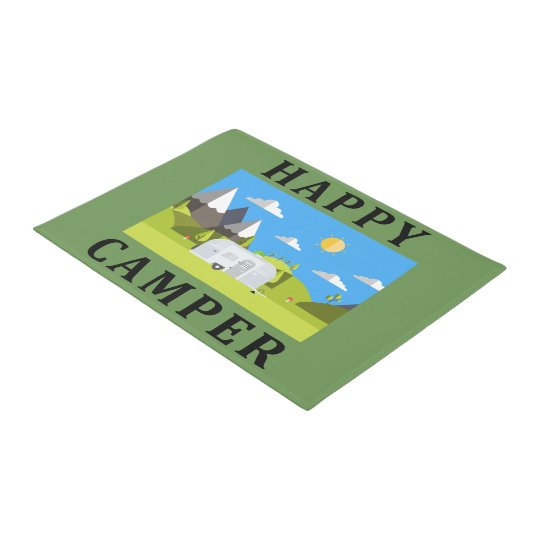 Happy Camper Outdoor Doormat