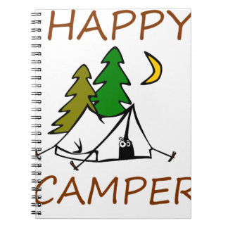 Happy Camper Outdoors Spiral Notebook