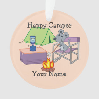 Happy Camper Personalized Cartoon Mouse