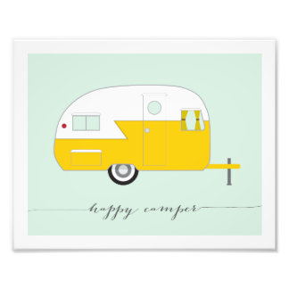 Happy Camper Photo Paper Print