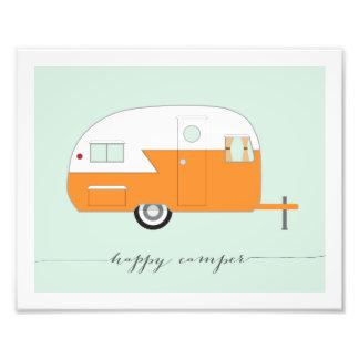 Happy Camper Photo Paper Print - Orange