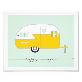 Happy Camper Photo Paper Print