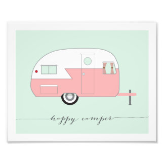 Happy Camper Photo Paper Print - Pink