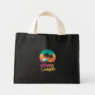 937fd6ed54c8 Happy Camper - Retro Vintage Tent Van RV Mini Tote Bag