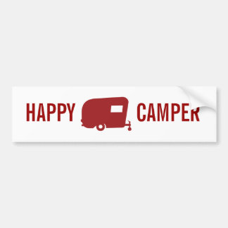 Happy Camper - RV - Travel Trailer Humor Bumper Sticker