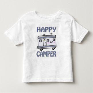 Happy Camper Smiley Trailer Toddler T-Shirts