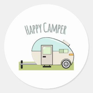 Happy Camper Round Sticker