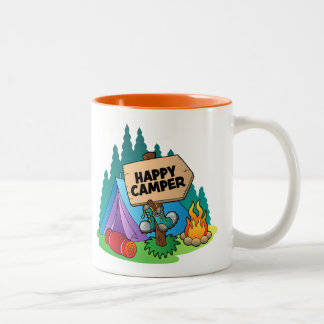 Happy Camper Two-Tone Mug