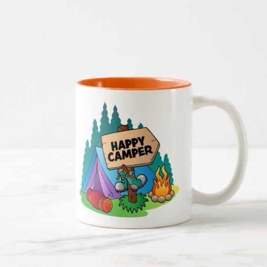 Happy Camper Two-Tone Mug