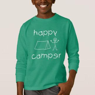Happy Camper (wht) T-Shirt