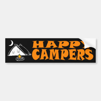 Happy Campers Bumper Sticker