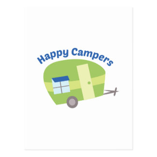 Happy Campers Postcard
