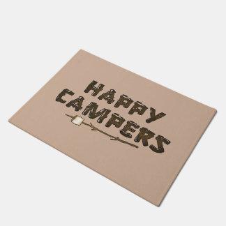 Happy Campers word art door mat