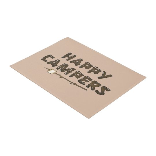 Happy Campers word art door mat