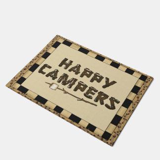 Happy Campers word art doormat