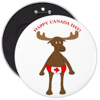 Happy Canada Day 6 Cm Round Badge