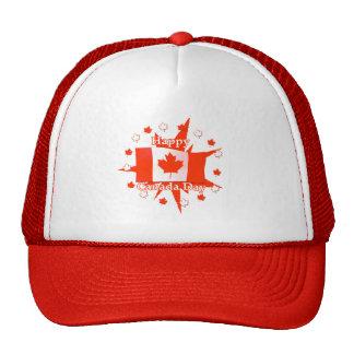 Happy Canada Day Flag Design Trucker Hats