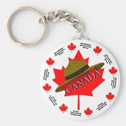 Happy Canada Day Key Chains