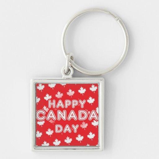 Happy Canada Day Key Chain