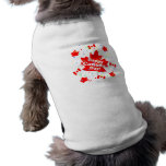 Happy Canada Day Party Dog T-shirt