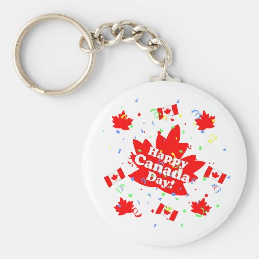 Happy Canada Day Party Keychains