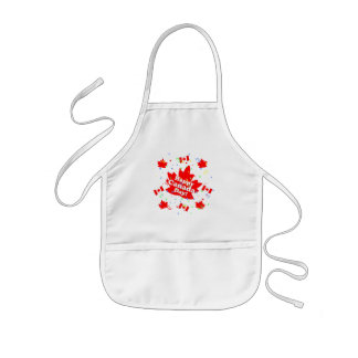 Happy Canada Day Party Kids Apron