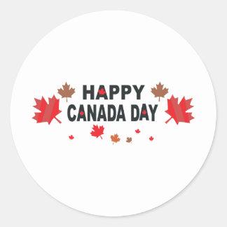 Happy Canada Day Round Sticker