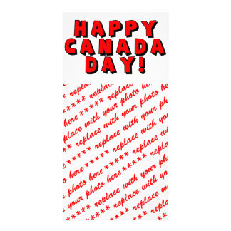 Happy Canada Day Text Image Photo Greeting Card