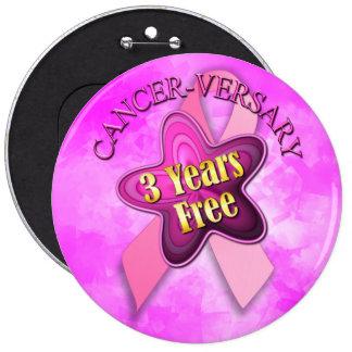 Happy Cancer-versary 6 Cm Round Badge