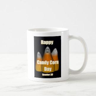 Happy Candy Corn Day October 30 Basic White Mug