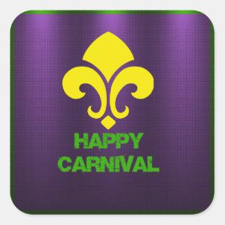Happy Carnival Labels Square Sticker