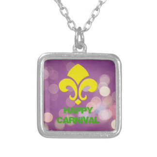Happy Carnival with Bokeh Lights Custom Necklace