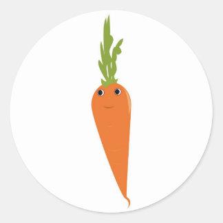 Happy Carrot Classic Round Sticker