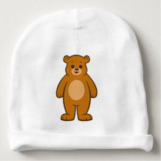 Happy Cartoon Bear Baby Beanie