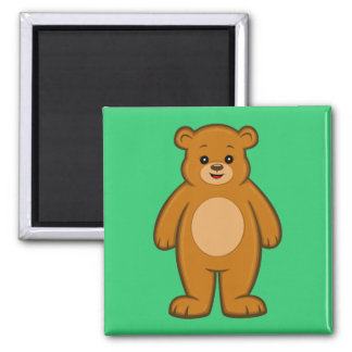 Happy Cartoon Bear Magnet