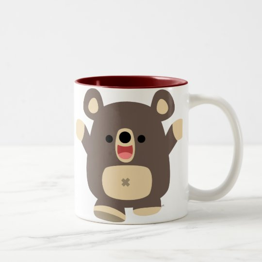 Happy Cartoon Black Bear mug