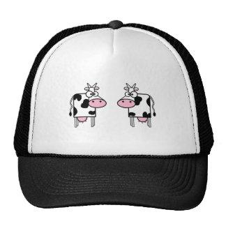 Happy Cartoon Cows Cap