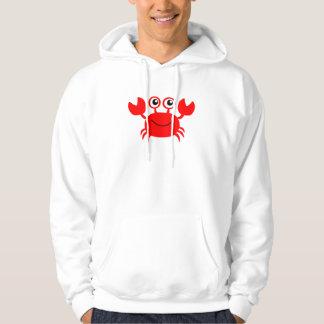 Happy Cartoon Crab Hoodie