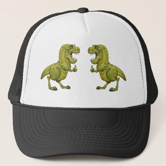 Happy Cartoon Dinosaur Giving the Thumbs Up! Cap