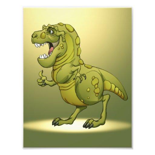 Happy Cartoon Dinosaur Giving the Thumbs Up! Photo